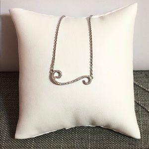 """Jewelry - NWOT .22ctw Genuine Diamond 925 Necklace 18"""""""